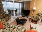 IP 309: Colorful beach front condo- balcony,heated pool, WiFi,free beach svc