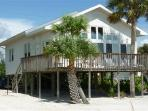 Direct Beachfront Cottage with Large Gulf View Deck and Shared Heated Pool. -  Beach Retreat Love Shack