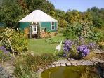 Elegant Yurt Nestled in Organic Garden--Sleeps 6