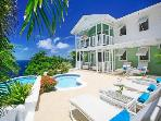 Saline Reef - Comfortable villa with uninterrupted sunset views, pool & beach nearby