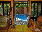 Beautifully furnished private villa- across from beach, pool, gas grill, a/c
