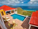 Sunny Side Up - Hillside villa offers breathtaking island & sea views, pool & fun