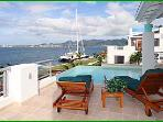 VIP VILLA... Super Deluxe 5 BR contemporary villa on Simpson Bay Lagoon w/ private dock!