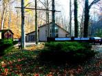 The Saltbox Lodge, (website: hidden) & beam woodland cabin