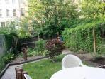Garden apartment in a harlem townhouse