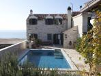 Traditional Dalmatian stone villa with pool