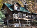 Whispering Woods Cabin - Log Cabin with Fire Pit, Internet, Hot Tub, and More