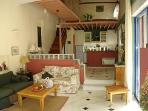 Rental beachfront villa on sandy Ionian coast sleeps 4-6