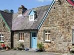 GERLAN, character cottage with woodburner, garden with covered sitting area, country/river views in Aberbanc, Ref 15241