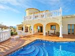 Attractive holiday house for 8 persons, with swimming pool , in Moraira