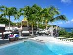 Modern Villa Escapade boasts splendid views, large pool & close to Marigot Bay