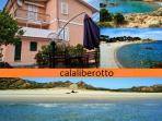 Apartment in villa on Cala Liberotto's beach 5 bed