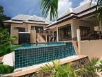 Private pool villa overlooking Chaweng beach Samui