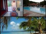 Your Condo in tourist residence with pool on the Roads of beaches at Sainte Anne in Martinique