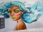 Miami Mermaid 1BR High-End Rental, Mural Art