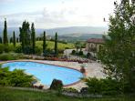 apartment in panoramic villa near Todi x 6 guests