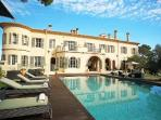 Chateau d'Azur offers a home theatre, fitness room, fireplace and heated pool