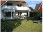 Vacation Bungalow in Prerow - 1292 sqft, satellite TV and radio, garden furniture available (# 1465)