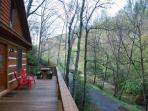 Chasing Rainbows-Creekside_ Hot tub_ Wood Burning Fireplace_ Log Cabin_ Pet Friendly_