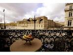 Charming and Apartment with a View of the Louvre