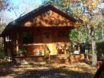 couples private cabin in secluded wooded area