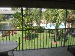 Scenic lake, palms and pool - 2 bed/bath condo