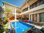 Stylish 3 bedroom villa in trendy Seminyak