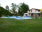 Villa with pool in a peaceful nook of the Sibilini