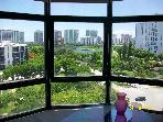 Luxury apt in heart of Aventura canal & golf views