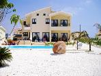 Luxury three bedroom villa Pelagia heated pool