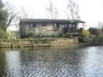 Riverside Log Cabin on Shakespears River Avon UK