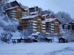 Luxury Swiss Alps ski apartment with sauna & pool