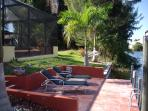 Pool and spa pet friendly gulf access Villa