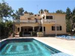 Attractive holiday house for 13 persons, with swimming pool , near the beach in Cala Blava
