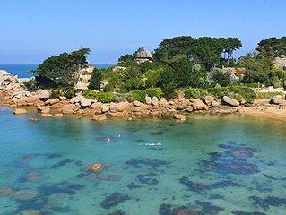 Mobil home  les pieds dans l'eau sur la côte de granit rose - Louannec vacation rentals
