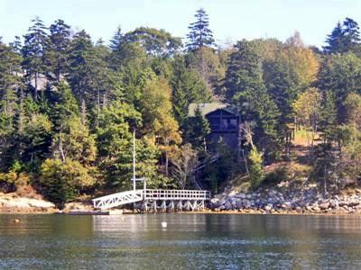 View of Linekin Log Cabin from the Water - Linekin Log Cabin East Boothbay - East Boothbay - rentals