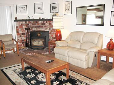 Living Room - La Vista Blanc - LVB74 - Mammoth Lakes - rentals