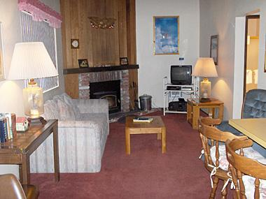 Living Room - La Vista Blanc - LVB42 - Mammoth Lakes - rentals