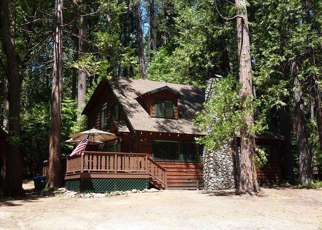 Exterior - Gorgeous cabin- fireplace, near downtown & lake, deck, A/C &  firepit - Twain Harte - rentals