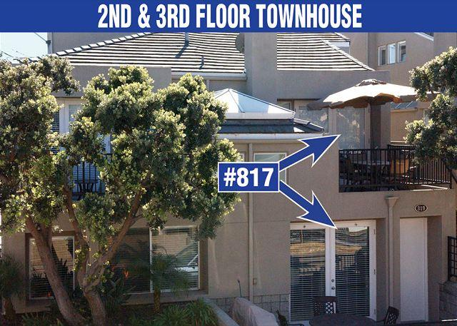 Exterior - Lovely, spacious townhome-large deck, near beach, w/d, full kitchen - Pacific Beach - rentals