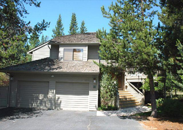 Front View of home - Family Fun Sunriver Home with Large Deck and SHARC access Near Bike Paths - Sunriver - rentals