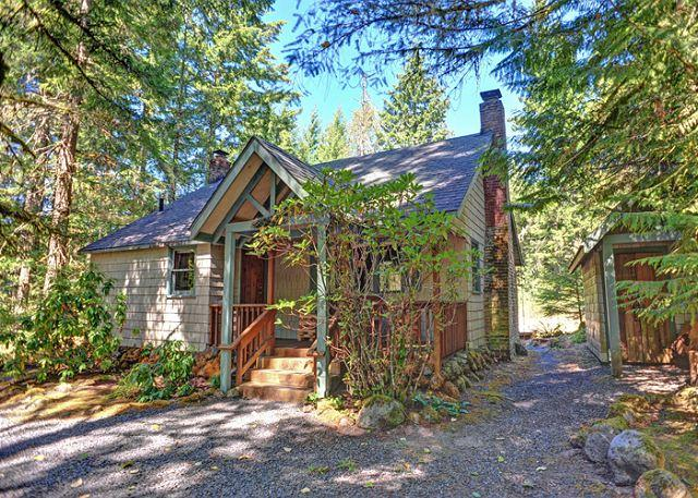 Pine River Cabin along the Sandy River in Wildwood, Oregon - Pine River Cabin - Cozy for a Romantic Christmas, Fireplace, Hot Tub, Dogs OK - Brightwood - rentals