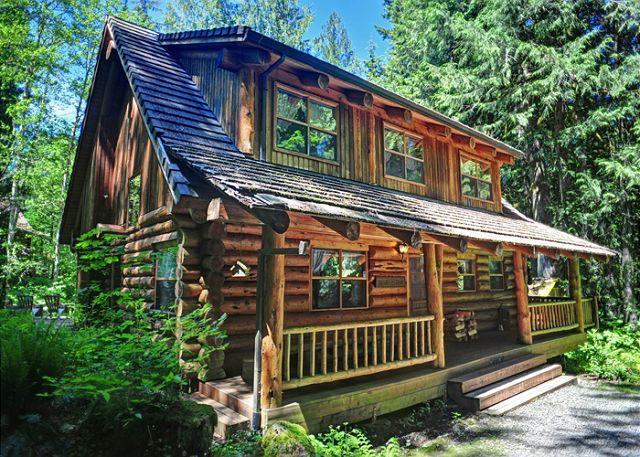 Bear Den Log Cabin in Welches, Oregon - Bear Den Log Cabin - Family Getaway. Fireplace, Dogs OK, Discounted Lift Tix - Welches - rentals