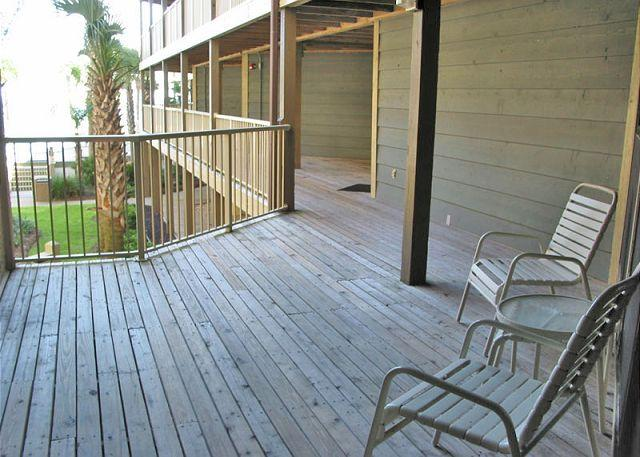 Front Deck Area - Sandpiper 10A - Gulf Shores - rentals