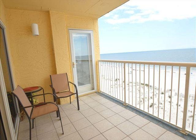 Balcony - Driftwood Towers 6E ~Master Bedroom Balcony Views ~ Bender Vacation Rentals - Gulf Shores - rentals