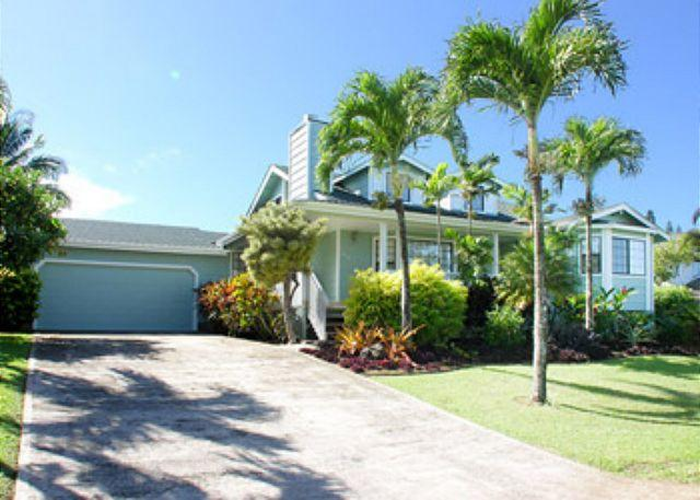Front Entry - Comfortable, Tommy Bahama Furnished Home - Princeville - rentals