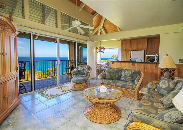 Pali Ke Kua #246: Ocean and sunset views from your own private lanai - Image 1 - Princeville - rentals