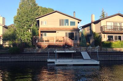 Back of House from Water - 418 Wedeln Court - South Lake Tahoe - rentals