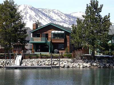 Exterior from Water - 1928 Marconi  Way - South Lake Tahoe - rentals