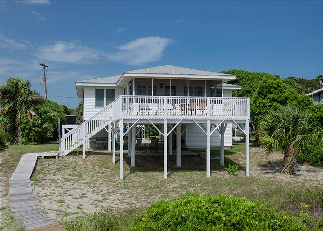Ballentine - Classic Beach Front Home With 5 Star Sunset Views - Image 1 - Edisto Island - rentals